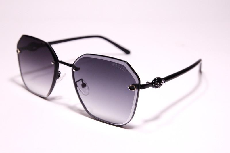 Очки от солнца, безободковые, фигурные, с серой градиентной линзой, для женщин