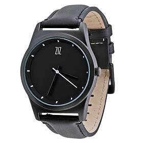 Часы Ziz Black в подарочной коробке на кожаном ремешке и доп. ремешок SKL22-142754
