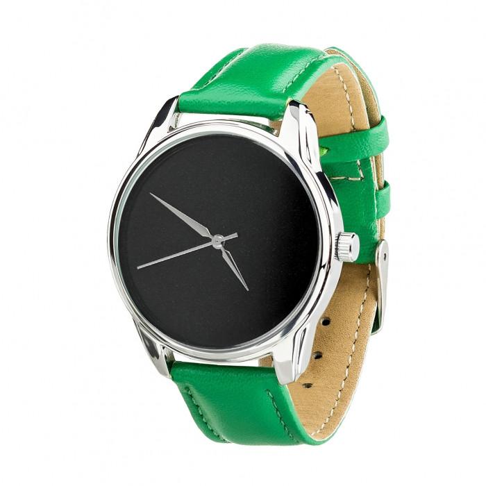 Часы Ziz Минимализм черный, ремешок изумрудно-зеленый, серебро и дополнительный ремешок SKL22-142884