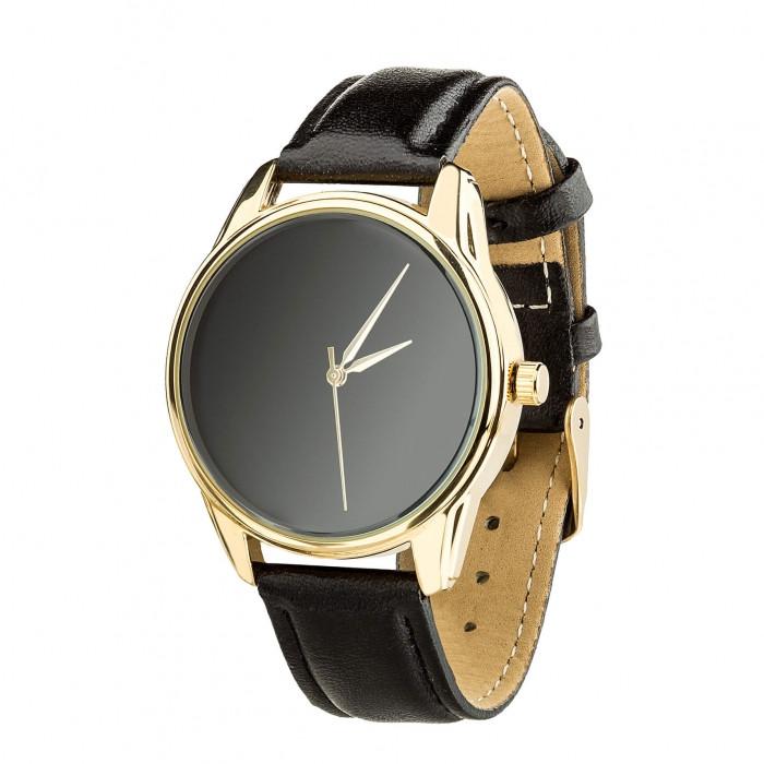 Часы Ziz Минимализм черный, ремешок насыщенно-черный, золото и дополнительный ремешок SKL22-142885