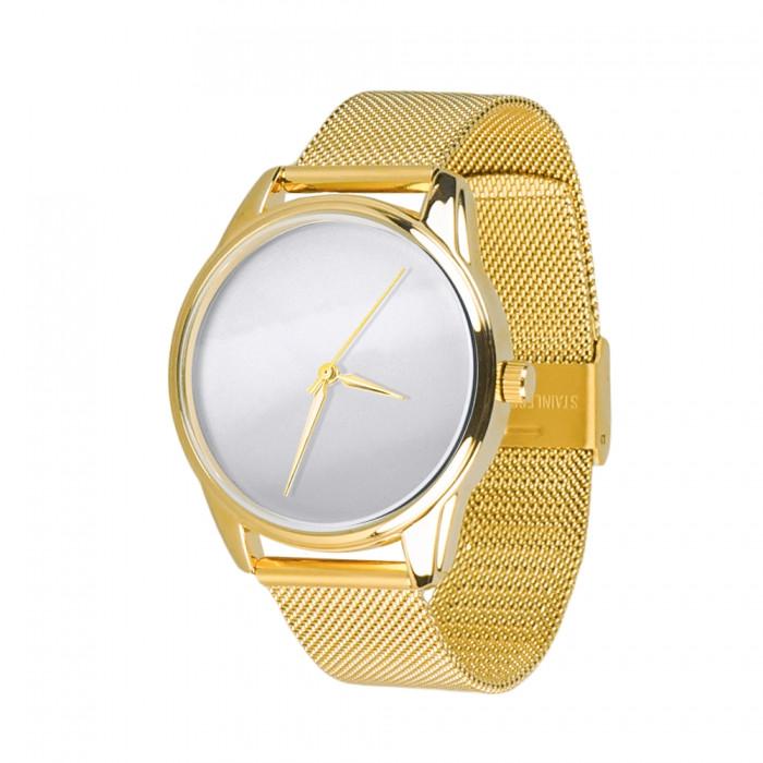 Часы Ziz Минимализм, ремешок из нержавеющей стали золото и дополнительный ремешок SKL22-142925
