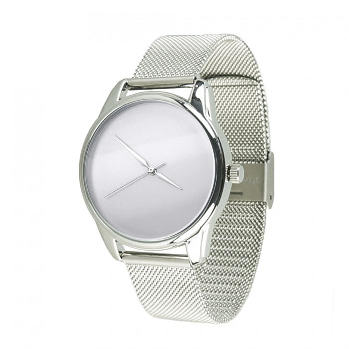 Часы Ziz Минимализм, ремешок из нержавеющей стали серебро и дополнительный ремешок SKL22-142923