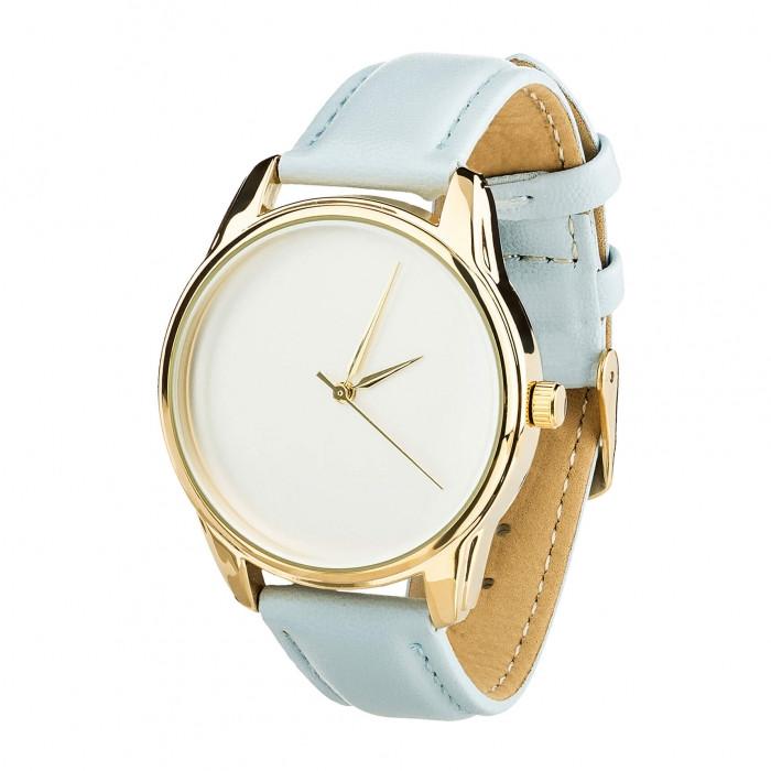 Часы Ziz Минимализм, ремешок нежно-голубой, золото и дополнительный ремешок SKL22-142876