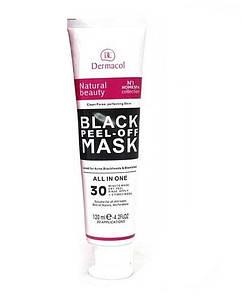 Черная маска для лица Dermacol Black Peel Off Mask против угрей и черных точек SKL11-189504