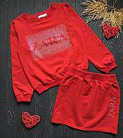 Костюм яркий для девочки с юбкой и кофточкой Zara