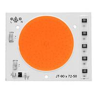 Светодиодный фито модуль COB LED 50W AC220 90*72мм для растений, фото 1