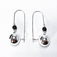"""Серьги подвески Beauty Bar из серебра 925 модель """"шары"""" -1, фото 1"""