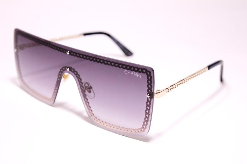 """Очки суперстильные от солнца, """"маска"""", с серо-фиолетовой градиентной линзой, женские"""