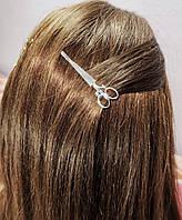 Заколка для волос Ножницы (цвет золото или серебро), фото 1
