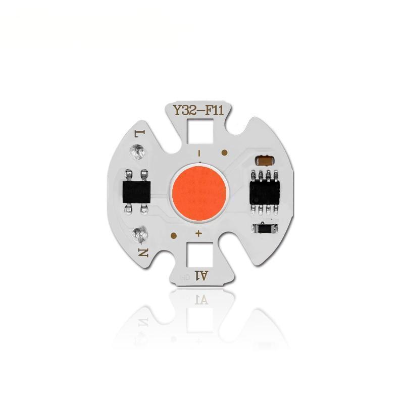 Світлодіодний модуль COB LED 10Ватт AC220 32mm для рослин