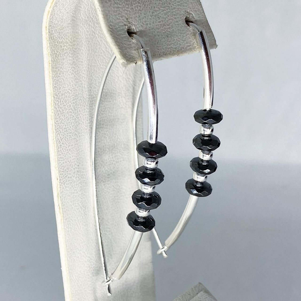 """Сережки підвіски Beauty Bar зі срібла 925 модель """"дуга"""""""