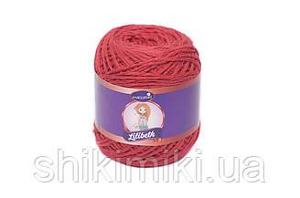 Трикотажний шнурок Lilibeth для Амігурумі 2мм, колір Червоний