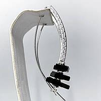 """Серьги подвески Beauty Bar из серебра 925 модель """"дуга версаче"""", фото 1"""