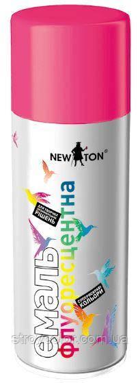 Аэрозольная флуоресцентная эмаль Розовая RAL 0096 New Ton 400 мл. (Краска-спрей ньютон newton)