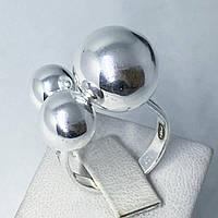 Кільце з срібла 925 Beauty Bar 3 кулі (розмір 18,5-19), фото 1