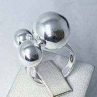 Кольцо из серебра 925 Beauty Bar 3 шара (размер 18,5-19), фото 1