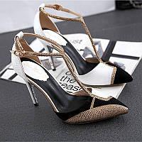 Красивые замшевые Т застежка туфли, фото 1