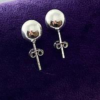 """Сережки зі срібла 925 Beauty Bar """"Куля"""", фото 1"""