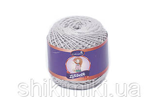 Пряжа Maccaroni Lilibeth для Амигуруми 2мм, цвет серебро