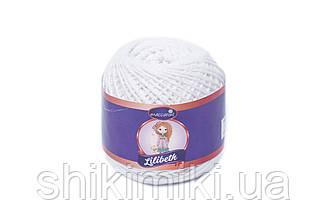 Пряжа Maccaroni Lilibeth для Амигуруми 2мм, цвет белый