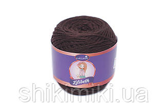Трикотажний шнурок Lilibeth для Амігурумі 2мм, колір Шоколад