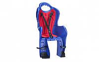 Велокресло для детей Elibas P HTP design на багажник синий