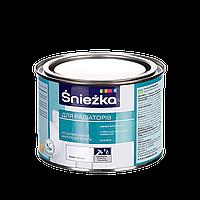 Эмаль акриловая белая глянцевая Sniezka для радиаторов 0,4 л (краска Снежка для батарей, труб отопления)