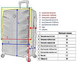 Стильный чемодан дорожный из поликарбоната с кодовым замком 8 прочных колеса маленький красный, фото 4
