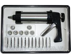 Кондитерский шприц пистолет Giale Biscuits Profi Cookie 21 насадка, фото 3