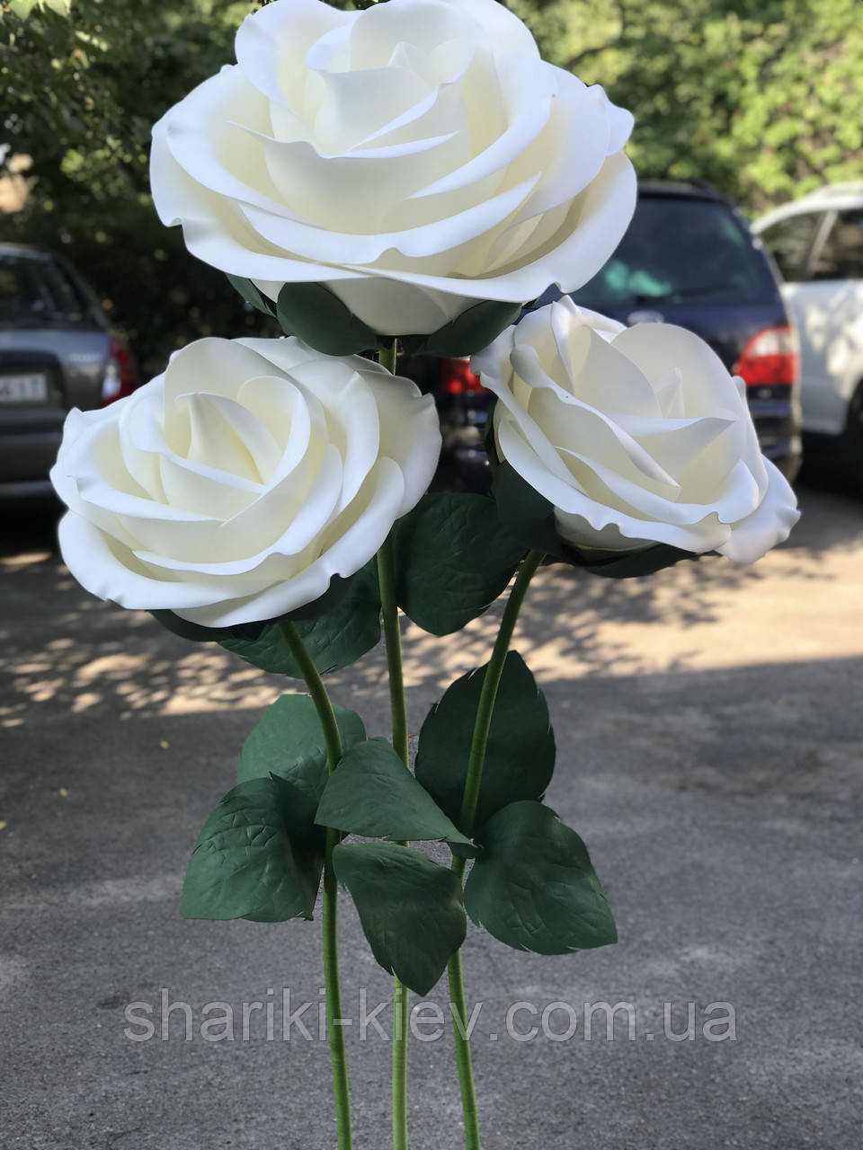 Декор Куст Гигантских Роз Белые Продажа