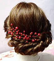 Шпилька для волос с жемчугом (белая или красная), фото 1