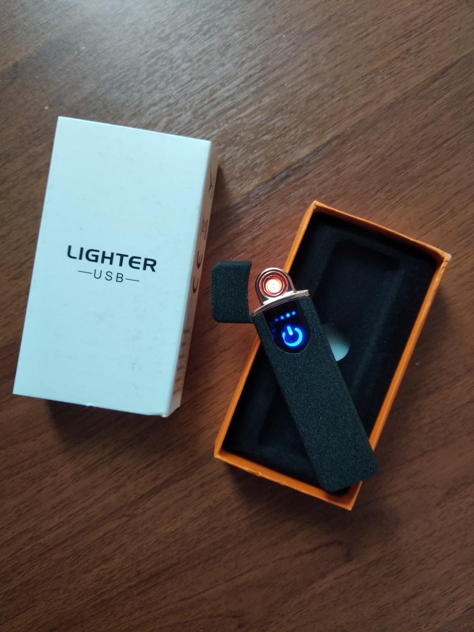 Сенсорная USB зажигалка мощная Lighter