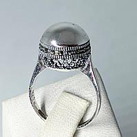 Кільце з крапельного срібла 925 з марказитами Beauty Bar Куля (размер18-18,5 і 21), фото 1