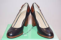 Туфли женские Flona 10-1-1 чёрные кожа на каблуке, фото 1