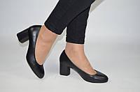Туфли женские AURIS 1950 чёрные кожа на каблуке, фото 1
