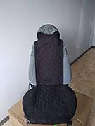 Накидки на сиденья передний комплект. Черный