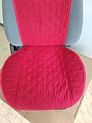 Накидки на сиденья авто из АЛЬКАНТАРЫ (искусственной замши). Красные. 2 передних