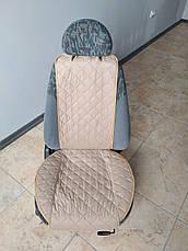 Накидки на сиденья из АЛЬКАНТАРЫ (искусственной замши). Бежевые. Комплект, фото 3