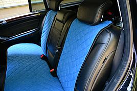 Накидки на сиденья из АЛЬКАНТАРЫ (искусственной замши). Голубые. Комплект