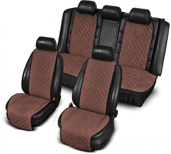 Накидки на сидіння. Повний комплект. Темно-коричневий