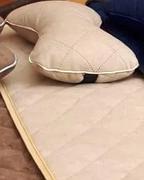 Подушка на подголовник темный-беж