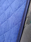 Подушка на подголовник голубая
