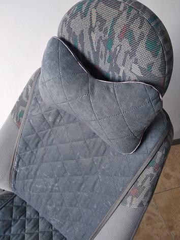 Подушка на подголовник серая, фото 2