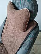 Подушка на подголовник темно-коричневая