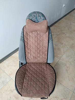 Подушка на подголовник темно-коричневая, фото 2