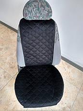 Накидки на сиденья из АЛЬКАНТАРЫ (искусственной замши). Черные. Комплект, фото 2