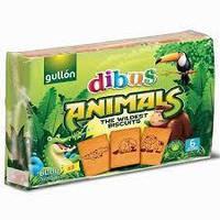 Печенье бисквитное с витаминами Dibus Animal biscuits Gullon 600г (3х200г)