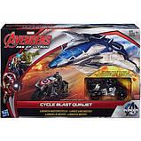 Marvel Самолет Мстителей с фигуркой Капитана Америки на мотоцикле B0425 Avengers Age of Ultron Cycle Blast, фото 8