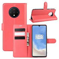 Чехол-книжка Litchie Wallet для OnePlus 7T Red