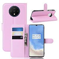 Чехол-книжка Litchie Wallet для OnePlus 7T Pink